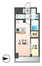 仮)ハーモニーレジデンス名古屋新栄[12階]の間取り