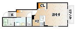 グリンデルハイム若園C[1階]の間取り