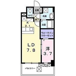 西鉄天神大牟田線 大橋駅 バス17分 上警固下車 徒歩2分の賃貸マンション 5階1LDKの間取り
