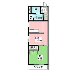 平成ハイツ[3階]の間取り