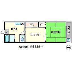ヒムロマンション[3階]の間取り