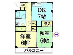 秋山ハイツ[301号室]の間取り