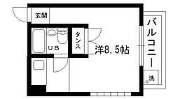 丸橋ハイム[304号室]の間取り