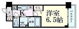 Osaka Metro御堂筋線 東三国駅 徒歩6分の賃貸マンション 3階1Kの間取り