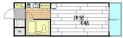 大阪府大阪市西区本田4丁目の賃貸マンションの間取り