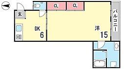 伊豫マンション[2号室]の間取り
