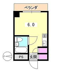 東京都八王子市天神町の賃貸マンションの間取り