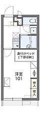 レオパレスソレイル横田II[102号室]の間取り