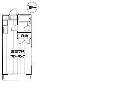 氷川台コーポハセベ[201号室]の間取り