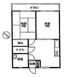 ダイアナマンション[3階]の間取り
