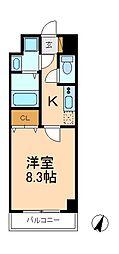 千葉県松戸市新松戸5丁目の賃貸マンションの間取り