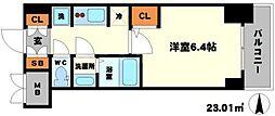 S-RESIDENCE江坂[2階]の間取り