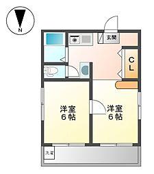 富士レイホービル第5[5階]の間取り