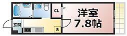 Osaka Metro千日前線 北巽駅 徒歩5分の賃貸アパート 3階1Kの間取り