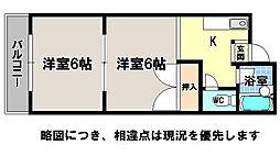 京都府京都市左京区一乗寺里ノ西町の賃貸マンションの間取り