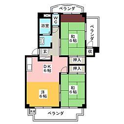アカギマンション[1階]の間取り