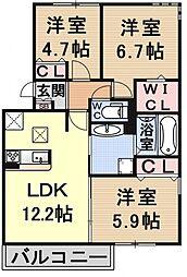 (仮称)D-room大津市大萱六丁目[303号室号室]の間取り