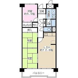 ドミール有住[4階]の間取り