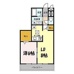 ロイヤルハーモニー[2階]の間取り