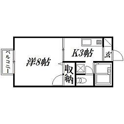静岡県浜松市西区雄踏町山崎の賃貸アパートの間取り