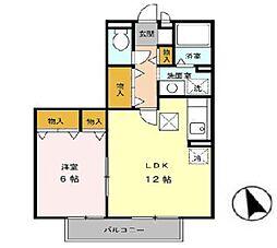チェリ−コ−ト[2階]の間取り