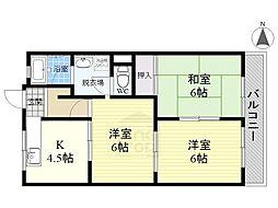 ニューハイム1[3階]の間取り