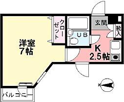 ライオンズマンション武蔵関[313号室]の間取り