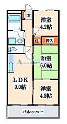カーサフィオ−レ1番館[3階]の間取り