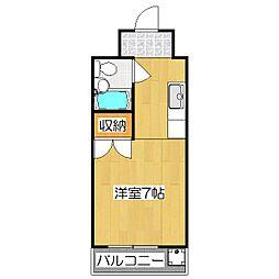 マンションレイ[402号室]の間取り