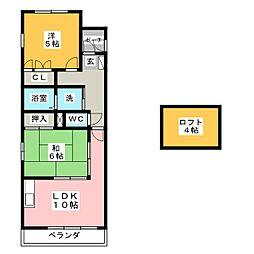 セゾンド・志水[4階]の間取り