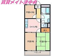三重県津市久居相川町の賃貸アパートの間取り
