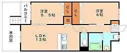クレストK[1階]の間取り