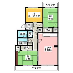 ラッフルズマンション[3階]の間取り