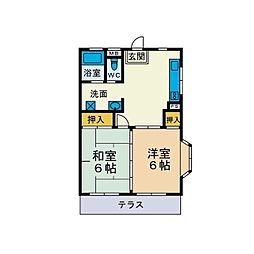 大塚マンション[2階]の間取り