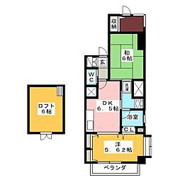 プランティーヌ高崎[4階]の間取り