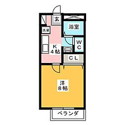 椿ハイツ[1階]の間取り