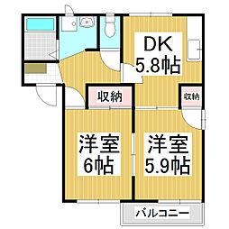 フレグランスForever A棟[1階]の間取り