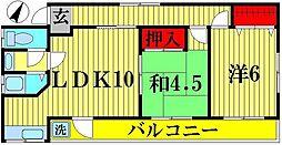 野口コーポ[3階]の間取り