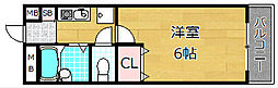 レフティー岡東[4階]の間取り
