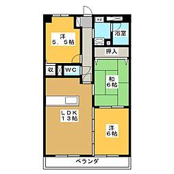メゾンUI[3階]の間取り