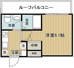 S-RESIDENCE妙蓮寺 4階1Kの間取り