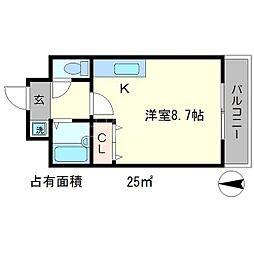 カワモトマンション[3階]の間取り