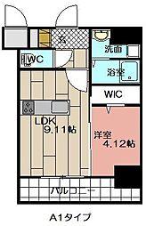 THE HILLS KOKURA[1306号室]の間取り