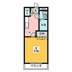 エスポアール T&Y[1階]の間取り