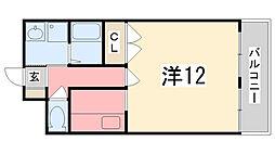 兵庫県姫路市東今宿3丁目の賃貸マンションの間取り