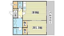 メゾン・ド・姫路野里[208号室]の間取り