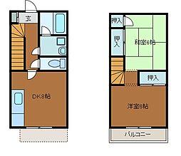 [テラスハウス] 神奈川県川崎市麻生区上麻生6丁目 の賃貸【/】の間取り