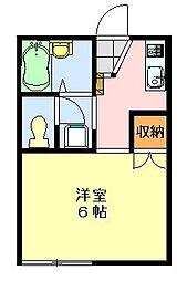 シャトレーヤハギ[203号室]の間取り