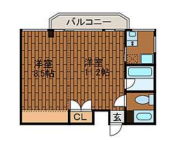 アイケーブリックス[3階]の間取り