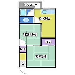 こだま荘[2階]の間取り